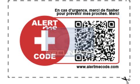 AlertMe Code, le QR Code pour prévenir vos proches en cas d'urgence
