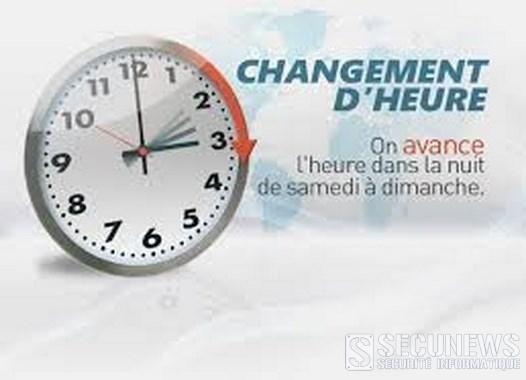 Passage à l'heure d'été dans la nuit du samedi 28 au dimanche 29 mars 2015