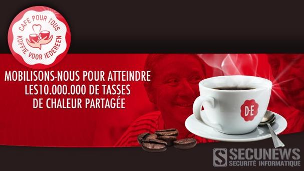 """Écoutez et partagez la chanson """"Café pour Tous"""" 1 tasse de café pour chaque visionnage et partage"""