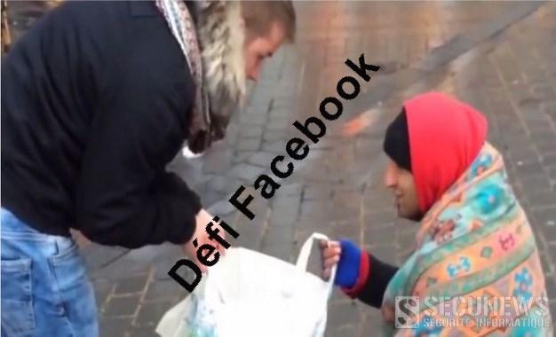 Défi Facebook intelligent: offrir des courses à un SDF