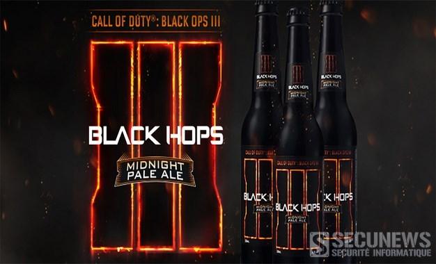 La black hops III midnight pale ale, une bière Call of Duty pour l'Australie
