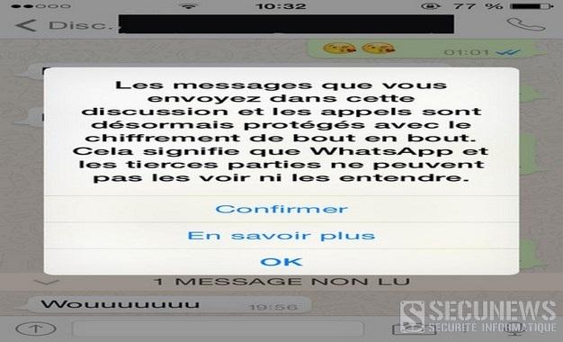 WhatsApp passe au cryptage complet des conversations, des photos et des vidéos