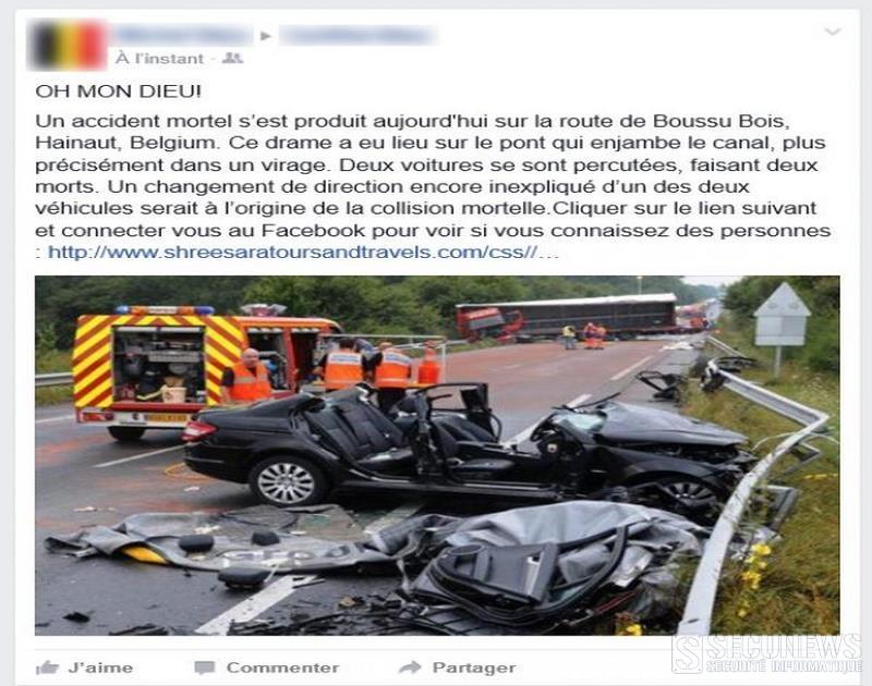 Un nouveau cas de phishing sur facebook, frappe les utilisateurs Belges
